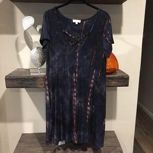 Tie Dye Tunic Dress Medium